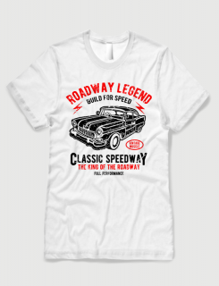 Μπλουζάκι με στάμπα Roadway Legend