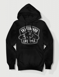 Hoodied φούτερ με στάμπα Skateboard lifestyle