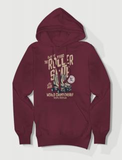 Hoodied φούτερ με στάμπα Roller Skate