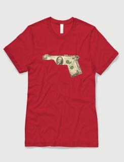 Μπλουζάκι με στάμπα Dollar Gun