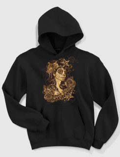 Hoodied φούτερ με στάμπα Drop dead gorgeous