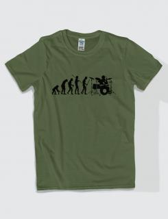 Μπλουζάκι με στάμπα Drummer Evolution