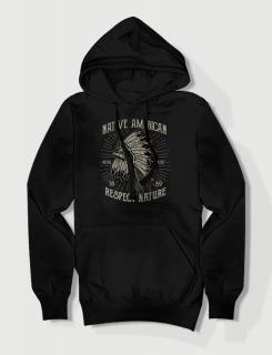 Hoodied φούτερ με στάμπα Native American