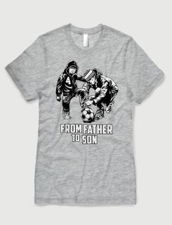 Μπλουζάκι με στάμπα From father to son