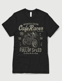 Μπλουζάκι με στάμπα Cafe Racer