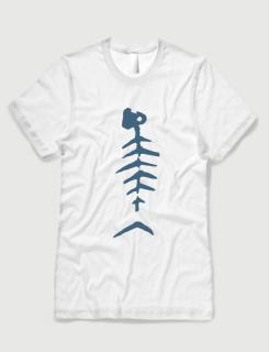 Μπλουζάκι με στάμπα fishbone