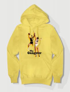 Hoodied φούτερ με στάμπα The gangster