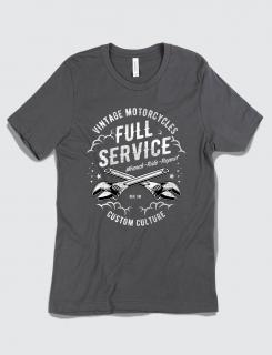 Μπλουζάκι με τύπωμα Vintage Motorcycles - Full Service