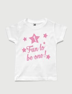 Μπλουζάκι με στάμπα Fun to be one!