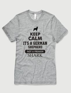 Μπλουζάκι με στάμπα Keep calm it's a german sepherd