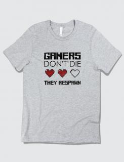 Μπλουζάκι με στάμπα Gamers do nοt die, they respawn
