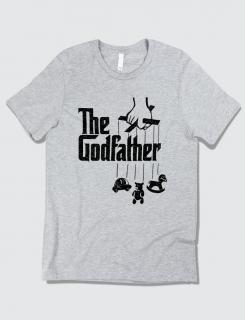 ανδρικό t-shirt sport grey με στάμπα The godfather