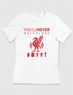 Μπλουζάκι με τύπωμα Liverpool You'll never walk alone
