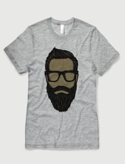 Μπλουζάκι με στάμπα Beard