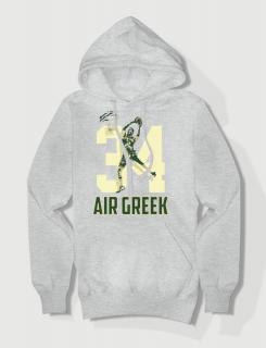 Hoodied φούτερ με στάμπα Air Greek