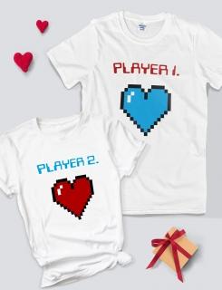 Μπλουζάκια με τύπωμα Player 1 - Player 2