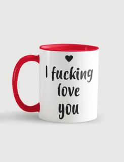 Κούπα κεραμική με τύπωμα I fucking love you