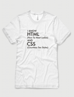b5ddf287dd3a Μπλουζάκι με στάμπα I know HTML