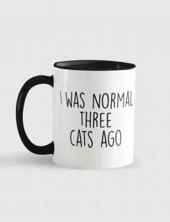 Κούπα κεραμική με τύπωμα I was normal three cats ago