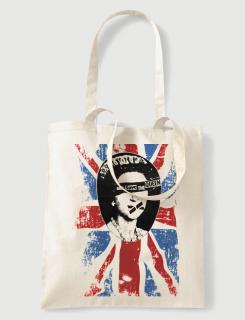 Τσάντα υφασμάτινη με στάμπα God save the queen