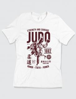 Μπλουζάκι με τύπωμα Judo - Strength and Courage
