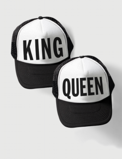 Καπέλα με εκτύπωση King Queen Simple