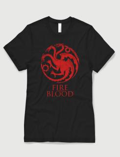 Μπλουζάκι με στάμπα Fire and Blood