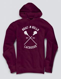 Hoodied φούτερ με στάμπα Beacon Hills - La Crosse