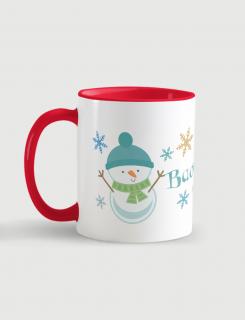 Κούπα κεραμική με τύπωμα Χιονάνθρωπάκι - Όνομα