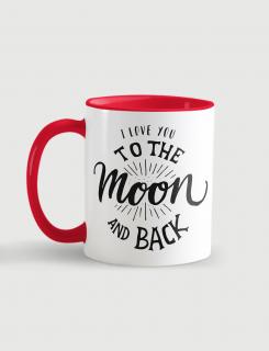 Κούπα κεραμική με τύπωμα Love to the moon and back