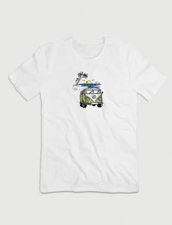 Μπλουζάκι με τύπωμα Van in the Beach