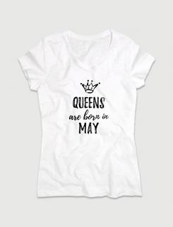 Μπλουζάκι με τύπωμα Queens are born in May