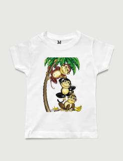 Μπλουζάκι με στάμπα Monkeys
