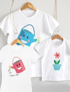 Μπλουζάκια με τύπωμα Family Flowers