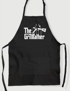 Μαύρη ποδιά με εκτύπωση  The Grillfather