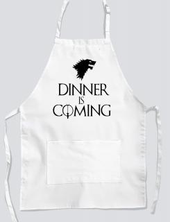 Ποδιά με στάμπα Dinner is coming