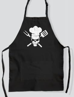 Ποδιά Μαγειρικής με τύπωμα Chef skull
