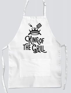 Ποδιά μαγειρικής με εκτύπωση King of the grill