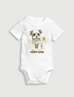 Παιδικό φορμάκι με στάμπα Puppy love