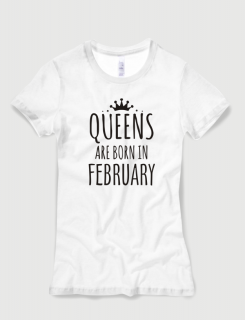 b67759247046 Μπλουζάκι με στάμπα Queens are born in February