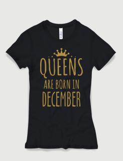 Μπλουζάκι με τύπωμα Queens are born in December