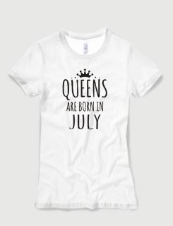 Μπλουζάκι με στάμπα Queens are born in July