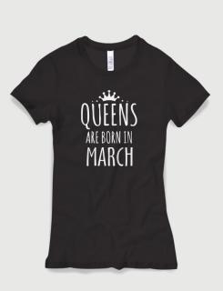 Μπλουζάκι με στάμπα Queens are born in March