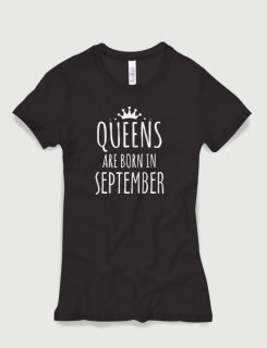 Μπλουζάκι με στάμπα Queens are born in September