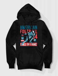 Hoodied φούτερ με στάμπα American Football