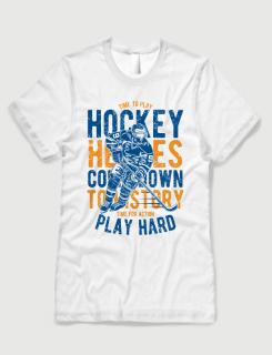 Μπλουζάκι με στάμπα Hockey heroes