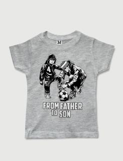 Μπλουζάκι με στάμπα From father to son 4