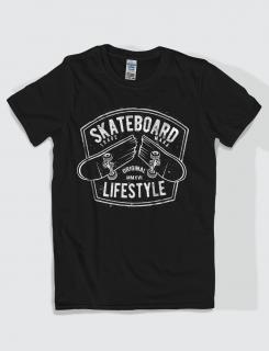 Μπλουζάκι με στάμπα Skateboard lifestyle