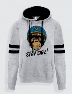 Hoodie με τύπωμα Stay Safe Monkey