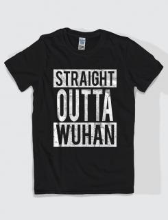 Μπλουζάκι με τύπωμα Straight Outta Wuhan